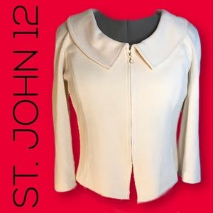 NWOT St. John boatneck jewel neck jacket Size 12